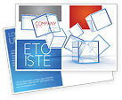 Business: Glass Cubes Postcard Template #08276