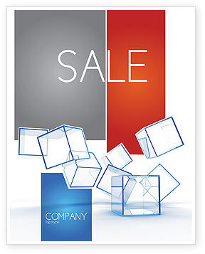 Business: Glass Cubes Sale Poster Template #08276