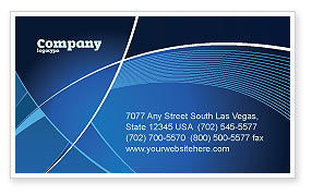 Deep Blue Theme Business Card Template, 08316, Abstract/Textures — PoweredTemplate.com