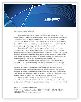 Deep Blue Theme Letterhead Template, 08316, Abstract/Textures — PoweredTemplate.com