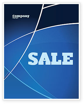 deep blue theme sale poster template in microsoft word publisher