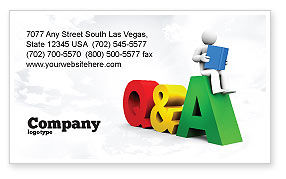 Questions & Answers Business Card Template, 08319, Education & Training — PoweredTemplate.com