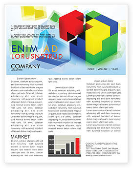 Fitting Pieces Newsletter Template, 08326, Business Concepts — PoweredTemplate.com
