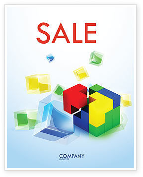 Business Concepts: Fitting Pieces Sale Poster Template #08326