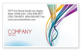 Color Ribbons Business Card Template, 08342, Abstract/Textures — PoweredTemplate.com