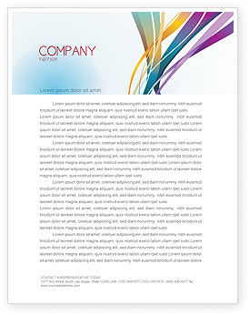 Color Ribbons Letterhead Template, 08342, Abstract/Textures — PoweredTemplate.com