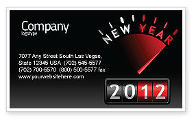 Business: N Yr Speedometer Business Card Template #08353