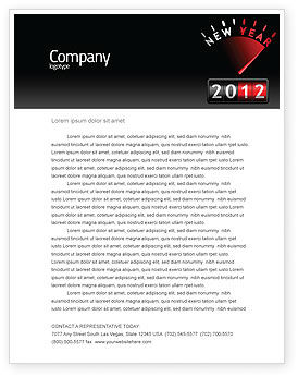 N Yr Speedometer Letterhead Template, 08353, Business — PoweredTemplate.com