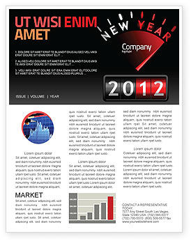 N Yr Speedometer Newsletter Template, 08353, Business — PoweredTemplate.com
