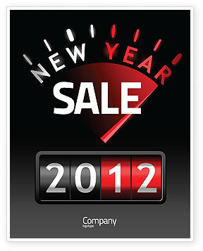 N Yr Speedometer Sale Poster Template, 08353, Business — PoweredTemplate.com