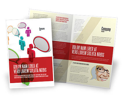 Communication Area Brochure Template, 08426, Telecommunication — PoweredTemplate.com