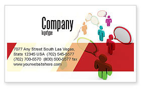 Communication Area Business Card Template