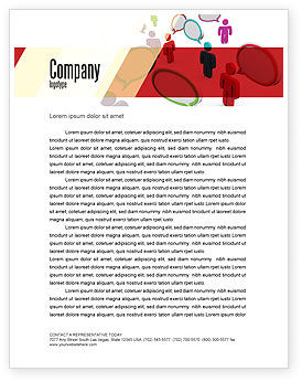 Telecommunication: Gebied Communicatie Briefpapier Template #08426