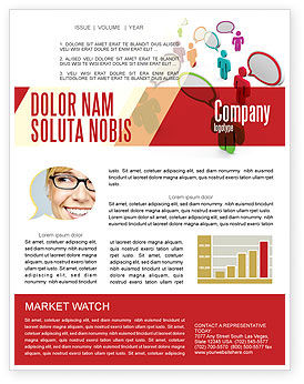 Telecommunication: Communication Area Newsletter Template #08426