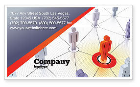 Telecommunication: Connections In The Network Business Card Template #08428