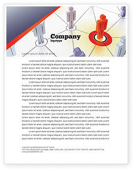 Telecommunication: Connections In The Network Letterhead Template #08428