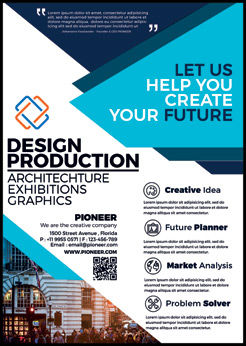 Creative Company Flyer Template, 08430, Construction — PoweredTemplate.com