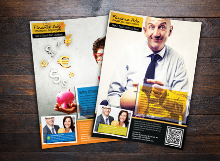 Business Financial Advisor Flyer Template, 08435, Financial/Accounting — PoweredTemplate.com