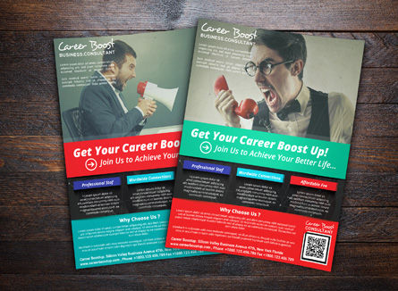Business Concepts: Career Boost Consultant Flyer Template #08437