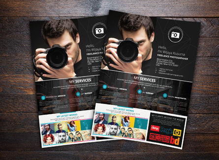 Careers/Industry: Modèle de Flyer de photographe à son compte #08439