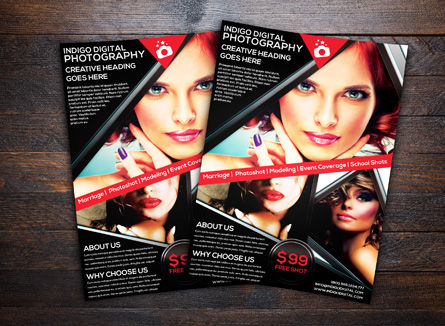 Careers/Industry: Modèle de Flyer de studio de photographie #08440