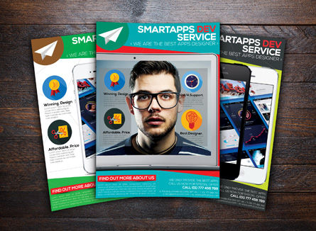 Technology, Science & Computers: Apps Ontwikkelaar Flyer Template #08442
