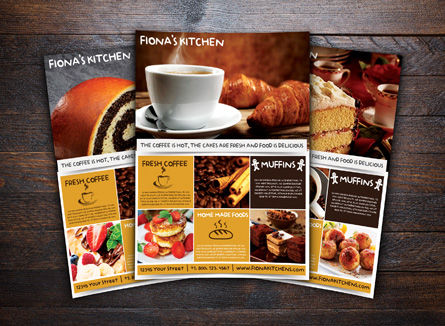 Food & Beverage: Coffeeshop Flyer Template #08446
