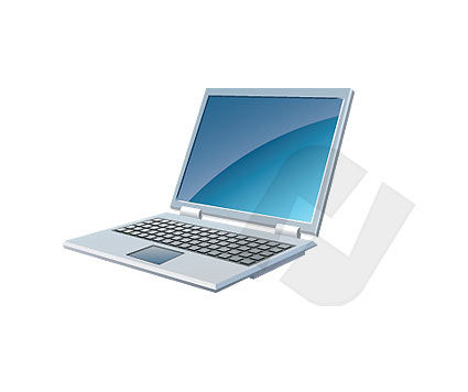 Objects and Equipment: Laptop Vector Clip Art #00001