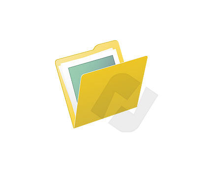 Objects and Equipment: Folder Vector Clip Art #00004