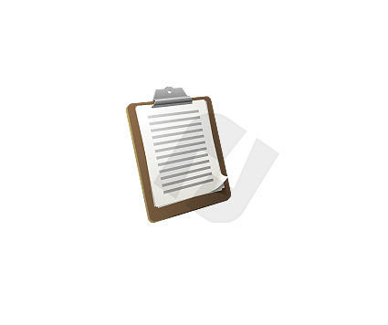 Objects and Equipment: Clipboard Clipart #00006