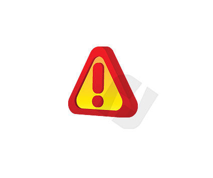 Objects and Equipment: Attention Sign Vector Clip Art #00008