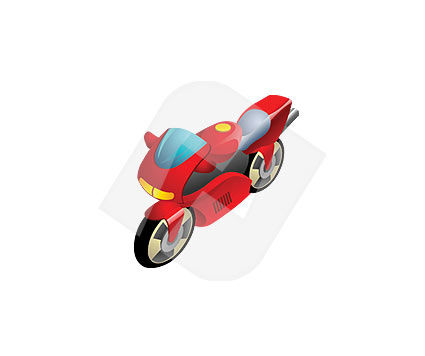 Bike Vector Clip Art, 00018, Industry Essentials — PoweredTemplate.com