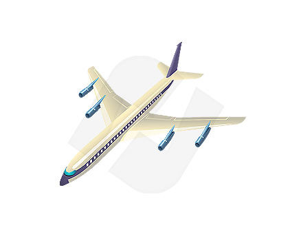 Plane Vector Clip Art, 00019, Industry Essentials — PoweredTemplate.com