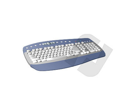 Computer Keyboard Clipart #00024