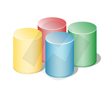 Arrows, Shapes and Buttons: Cylinder Vector Clip Art #00030