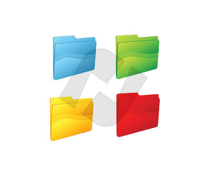 Folders Clipart #00062