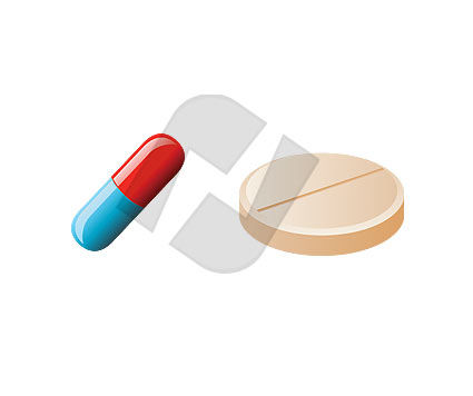 Objects and Equipment: Drug Vector Clip Art #00063