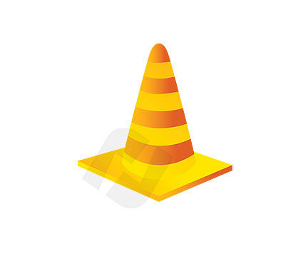 Objects and Equipment: Traffic Cone Vector Clip Art #00066