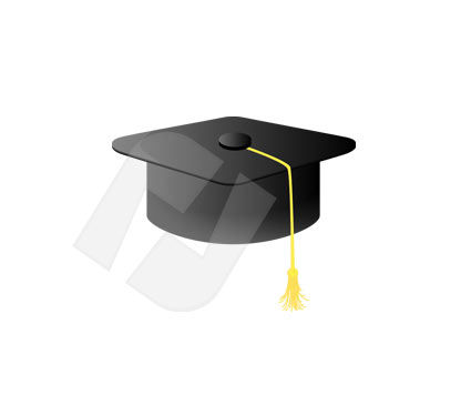 Objects and Equipment: Mortarboard Vector Clip Art #00072
