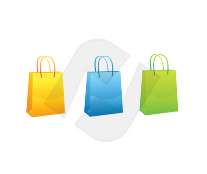 Bags Vector Clip Art, 00073, Objects and Equipment — PoweredTemplate.com