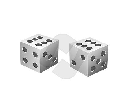 Dices Vector Clip Art, 00077, Objects and Equipment — PoweredTemplate.com