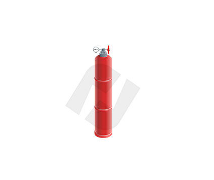 Red Gas Bottle Vector Clip Art