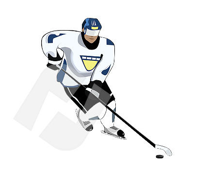 Sports: Ice Hockey Vector Clip Art #00084