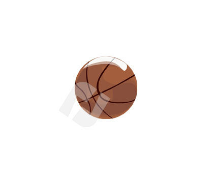 Objects and Equipment: Basketball Ball Vector Clip Art #00086