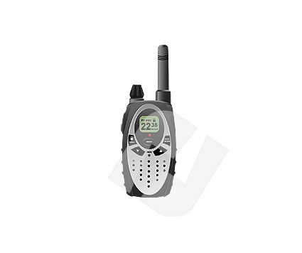 Walky-Talky Vector Clip Art, 00091, Objects and Equipment — PoweredTemplate.com