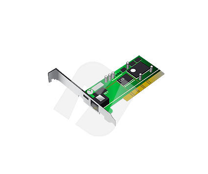 Ethernet card Vector Clip Art, 00100, Objects and Equipment — PoweredTemplate.com