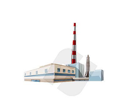 plant clip art. Power Plant Clipart #00102