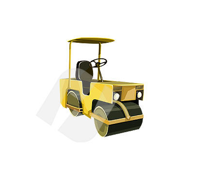 Industry Essentials: Road Roller Vector Clip Art #00106