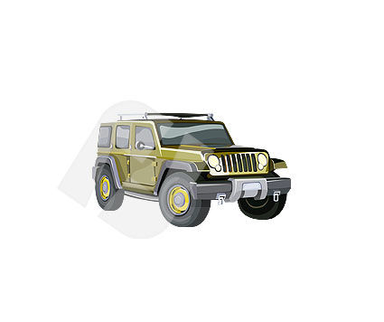 Industry Essentials: Jeep wrangler Clip Art #00107