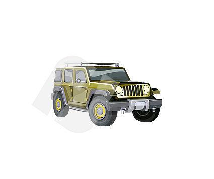 Industry Essentials: Jeep Wrangler Vector Clip Art #00107